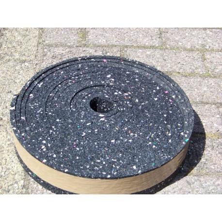 Rubber granulaat rol 8 cm breed 1 dik 10 meter lang